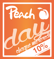 Peach Day every Wednesday